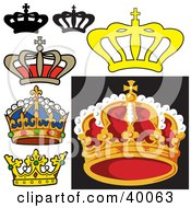 Clipart Illustration Of Royal King Crowns by dero