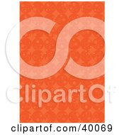 Clipart Illustration Of A Retro Background Of Rows Of Orange Circles