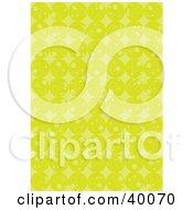 Clipart Illustration Of A Retro Background Of Rows Of Lime Green Circles
