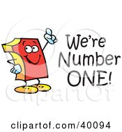 Clipart Illustration Of A Red Number One With Were Number One Text by Johnny Sajem