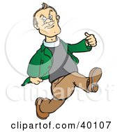 Clipart Illustration Of A Vicar Priest Running And Glancing Off