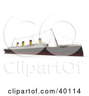 Clipart Illustration Of A 3d Side View Of The Titanic Ship