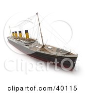 Clipart Illustration Of A 3d View Of The Titanic Ship