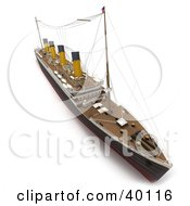 Clipart Illustration Of A 3d Aerial View Of The Titanic Ship