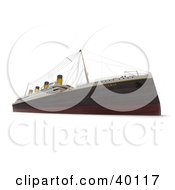 Clipart Illustration Of The Titanic Ship As Seen From A Low View