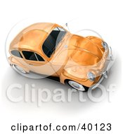 Clipart Illustration Of A Metallic Orange Slug Bug Car