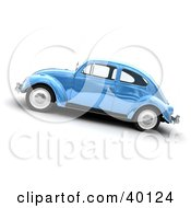 Clipart Illustration Of A Metallic Blue Slug Bug Car