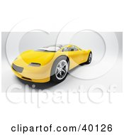 Clipart Illustration Of A Modern Yellow Audi Sports Car by Frank Boston