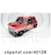 Clipart Illustration Of A Front Side View Of A Red Mini Car by Frank Boston