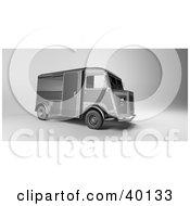 Vintage Gray Delivery Van
