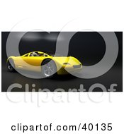 Clipart Illustration Of A Sleek Yellow Audi Sports Car On A Carbon Fiber Background by Frank Boston