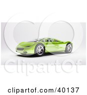 Clipart Illustration Of A Shiny Modern Green Sports Car by Frank Boston