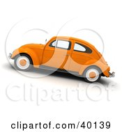 Clipart Illustration Of An Orange Slug Bug Vehicle by Frank Boston