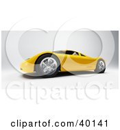 Clipart Illustration Of A Futuristic Yellow Audi Sports Car
