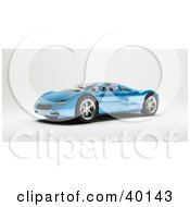 Clipart Illustration Of A Shiny Modern Blue Sports Car