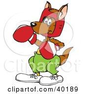 Brown Boxing Kangaroo