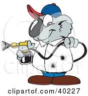 Koala Pest Control Man Spraying Insecticide