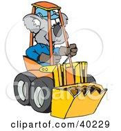 Koala Driving A Tractor