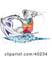 Clipart Illustration Of A Koala Riding On A Jet Ski
