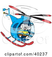 Clipart Illustration Of A Koala Helicopter Pilot Flying