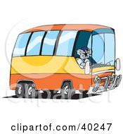 Clipart Illustration Of A Koala Driver Driving A Public Bus