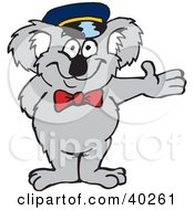 Clipart Illustration Of A Koala Doorman Or Parking Attendant