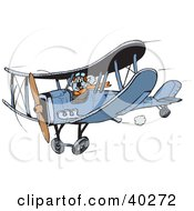 Clipart Illustration Of A Koala Biplane Pilot Flying