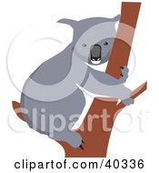 Clipart Illustration Of A Koala Resting On A Tree Branch
