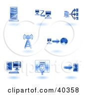 Clipart Illustration Of Shiny Blue Computer Icons