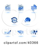 Clipart Illustration Of Shiny Blue Browser Icons