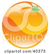 Clipart Illustration Of A Shiny Organic Orange by AtStockIllustration