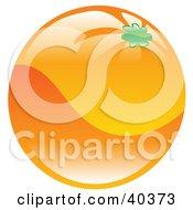 Clipart Illustration Of A Shiny Organic Orange