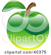 Clipart Illustration Of A Shiny Organic Green Apple
