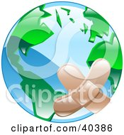 Clipart Illustration Of A Bandaged Planet Earth