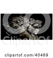 Clipart Illustration Of A 3d Negative Floor Plan Background