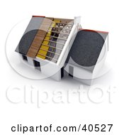 Clipart Illustration Of A New 3d Home Showing Insulation Wood And New Roofing by Frank Boston #COLLC40527-0095