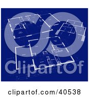 Clipart Illustration Of A Background Of Housing Blueprints