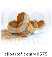 Clipart Illustration Of Orange Lucky Thirteen Billiard Balls