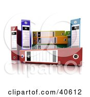 Clipart Illustration Of Colorful 3d Ring Binders