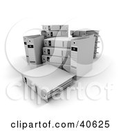 Clipart Illustration Of Unorganized White Ring Binders With Blank Labels