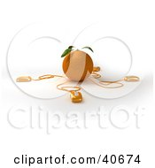Clipart Illustration Of 3d Computer Mice Wired To An Orange