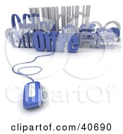 Clipart Illustration Of A 3d Computer Mouse Connected To A Bar Code And Offre Text