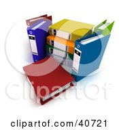 Clipart Illustration Of 3d Colorful Ring Binders by Frank Boston