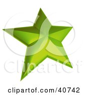 Clipart Illustration Of A 3d Green Nautical Star by Frank Boston
