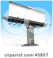 Clipart Illustration Of A Large Blank Billboard Sign Ready For Text