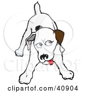 Clipart Illustration Of A Playful Jack Russell Terrier Glancing To The Right by Snowy