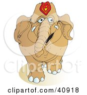 Clipart Illustration Of A Walking Brown Circus Elephant by Snowy