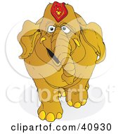 Clipart Illustration Of A Happy Brown Circus Elephant