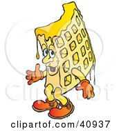 Clipart Illustration Of A Dripping Waffle Character