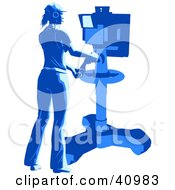 Clipart Illustration Of A Female Camera Technician Filming In A Studio